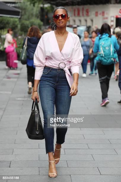Alesha Dixon seen leaving Capital Radio Studios on August 17 2017 in London England