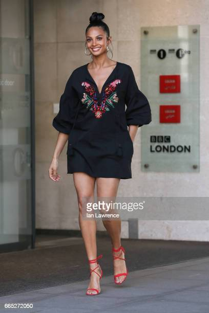Alesha Dixon sighting at BBC Radio 1 on April 6 2017 in London England
