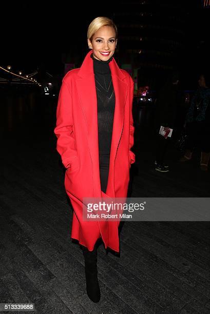 Alesha Dixon sighting on March 2 2016 in London England