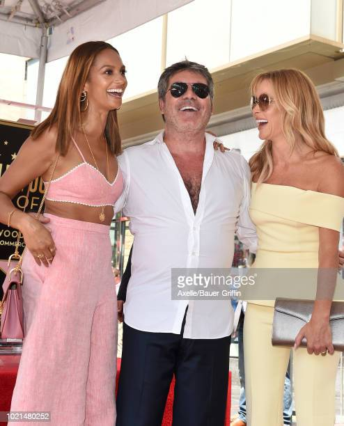 Alesha Dixon, Simon Cowell and Amanda Holden attend the ceremony honoring Simon Cowell with star on the Hollywood Walk of Fame on August 22, 2018 in...
