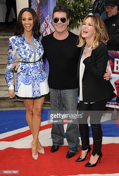Alesha Dixon, Simon Cowell and Amanda Holden attend the press launch for the new series of 'Britain's Got Talent' at ICA on April 11, 2013 in London,...