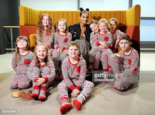 Alesha Dixon with Alder Hey Ambassadors at Alder Hey Children's Hospital to support the Matalan Get Your Stripes Fundraising Campaign on November 22...