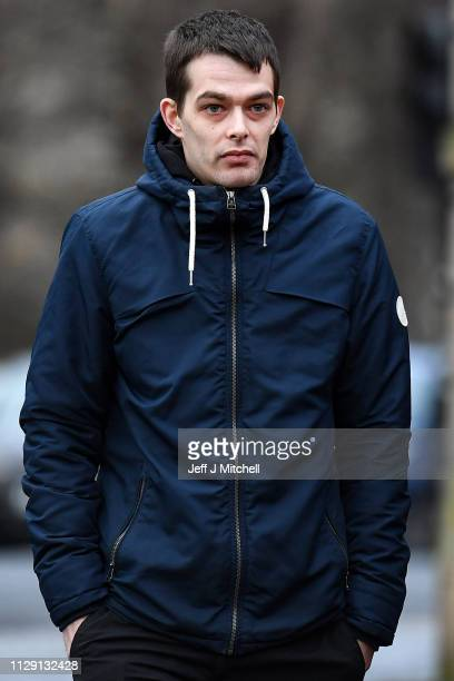 Alesha MacPhail's father Robert MacPhail arrives at Glasgow High Court on February 12 2019 in Glasgow Scotland Six year old Alesha MacPhail was found...