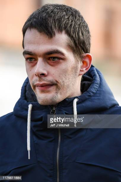 Alesha MacPhail's father Robert MacPhail arrives at Glasgow High Court on February 14 2019 in Glasgow ScotlandSix year old Alesha MacPhail was found...