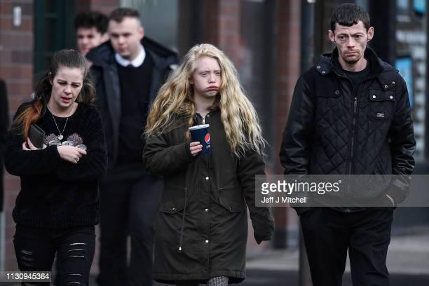 Alesha MacPhail's mother Georgina Lochrane arrives at Glasgow High Court on February 20 2019 in Glasgow Scotland Six year old Alesha MacPhail was...