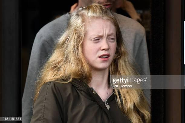 Alesha MacPhail's mother Georgina Lochrane at Glasgow High Court on February 21 2019 in Glasgow Scotland Six year old Alesha MacPhail was found dead...