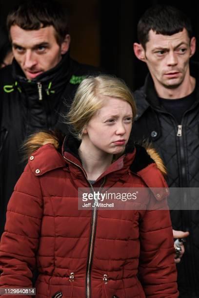 Alesha MacPhail's mother Georgina Lochrane leaves Glasgow High Court on February 14 2019 in Glasgow Scotland Six year old Alesha MacPhail was found...