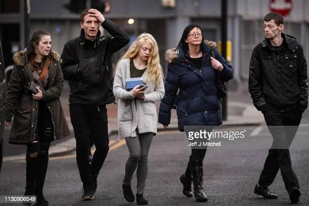 Alesha MacPhail's mother Georgina Lochrane leaves Glasgow High Court on February 20 2019 in Glasgow Scotland Six year old Alesha MacPhail was found...