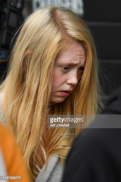 Alesha MacPhail's mother Georgina Lochrane leaves Glasgow High Court on March 21 2019 in Glasgow Scotland Aaron Campbell the sixteen year old...