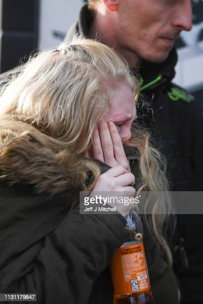 Alesha MacPhail's mother leaves Glasgow High Court following the verdict delivered on February 21 2019 in Glasgow Scotland A 16yearold boy has been...