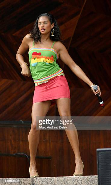 Alesha of Misteeq during Kiss 108 FM Concerts on the Charles August 14 2004 at Hatch Shell in Boston Massachusetts United States
