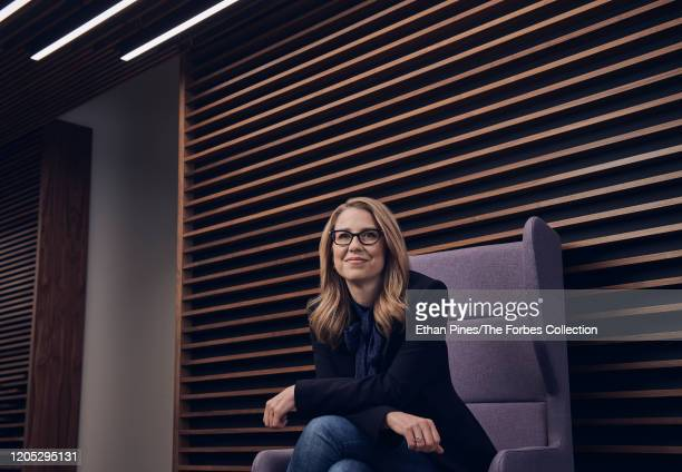 Alesia Haas CFO of Coinbase photographed in the company's headquarters San Francisco CA 1/23/20