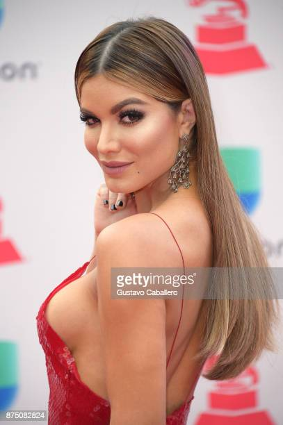 Aleska Genesis attends the 18th Annual Latin Grammy Awards at MGM Grand Garden Arena on November 16 2017 in Las Vegas Nevada