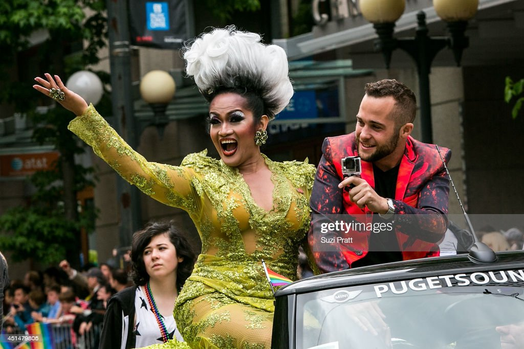 Aleska Manila makes an apperance in the 40th annual Seattle Pride Parade on June 29, 2014 in Seattle, Washington.
