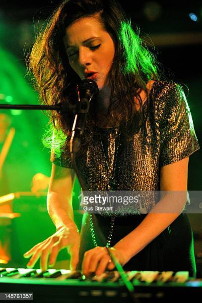 Aleska Palladino of Exitmusic performs on stage at Scala on May 16 2012 in London United Kingdom