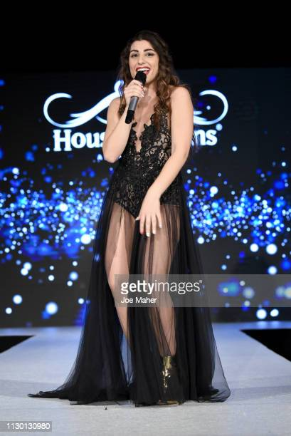 AleSol performs at the House of iKons show during London Fashion Week February 2019 at the Millennium Gloucester London Hotel on February 16 2019 in...