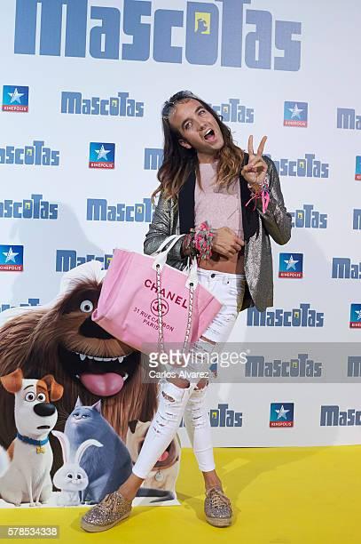 Aless Gibaja attends Mascotas premiere at Kinepolis cinema on July 21 2016 in Madrid Spain