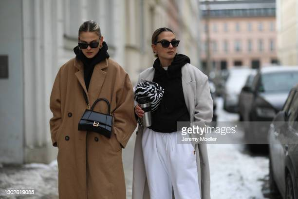 Alessa Winter and Anna Winter on February 15, 2021 in Berlin, Germany.