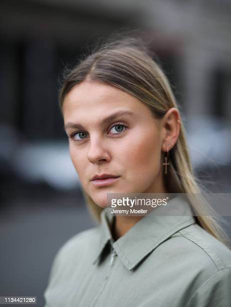 Alessa Winter wearing Edited overall on March 07 2019 in Berlin Germany
