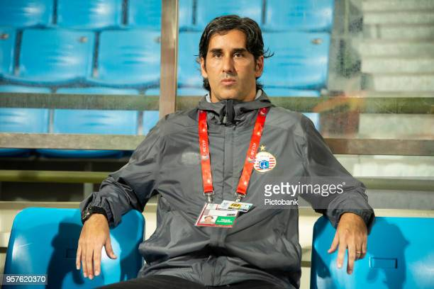 Alessando Stefano Rodrigues coach of Persija Jakarta seating on the bench before the AFC Cup Zonal Semi final between Home United and Persija Jakarta...