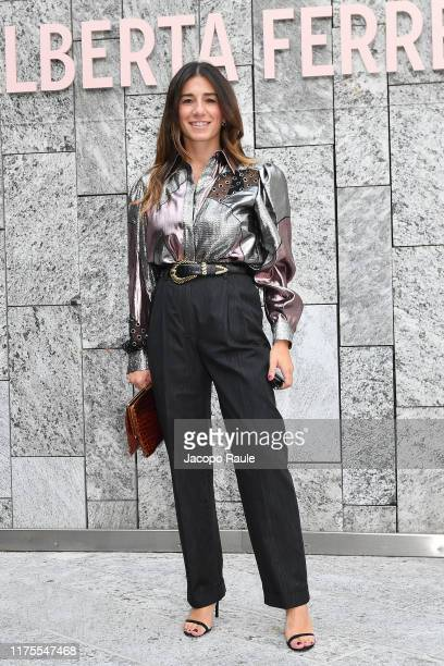 Alessandra Airò attends the Alberta Ferretti fashion show during the Milan Fashion Week Spring/Summer 2020 on September 18, 2019 in Milan, Italy.