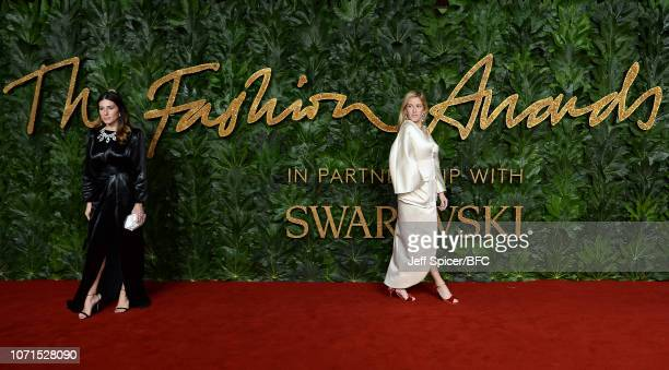 Alessandra Airo and Ellie Goulding arrive at The Fashion Awards 2018 In Partnership With Swarovski at Royal Albert Hall on December 10 2018 in London...