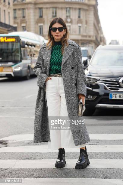 Alessandra Airo wearing Stella McCartney outside Stella McCartney during Paris Fashion Week Womenswear Spring Summer 2020 on September 30, 2019 in...