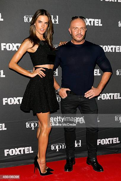 Alessandra Ambrosio and Alex Perry arrive at Australia's Next Top Model Elimination Set in Surry Hills on October 2 2014 in Sydney Australia
