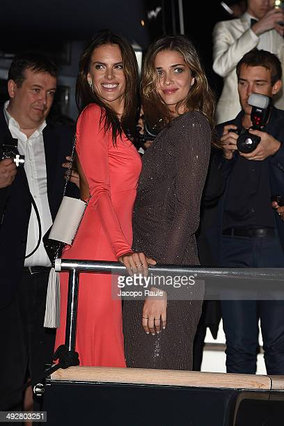Alessandra Ambrosio and Ana Beatriz Barros attend the 'Roberto Cavalli Annual Party Aboard' Outside Arrivals at the 67th Annual Cannes Film Festival...