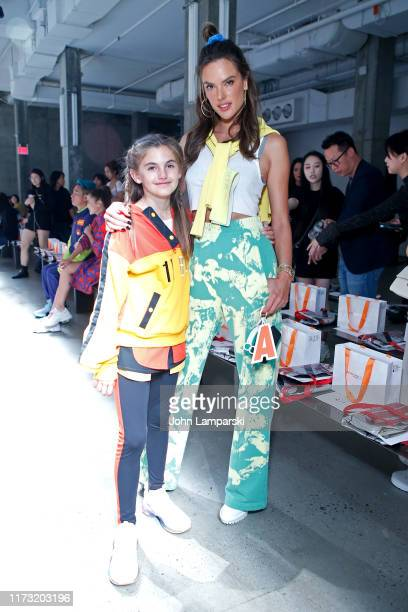 Alessandra Ambrosio and Anja Louise Ambrosio Mazur attend the China Day: Anta Kids front row during New York Fashion Week: The Shows on September 08,...