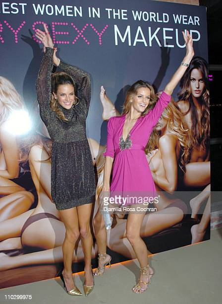 Alessandra Ambrosio and Izabel Goulart during Victoria's Secret Launches Very Sexy Makeup After Party at Xchange in New York City New York United...