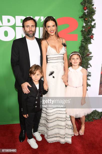 Alessandra Ambrosio and Jamie Mazur attend the premiere of Paramount Pictures' Daddy's Home 2 at Regency Village Theatre on November 5 2017 in...