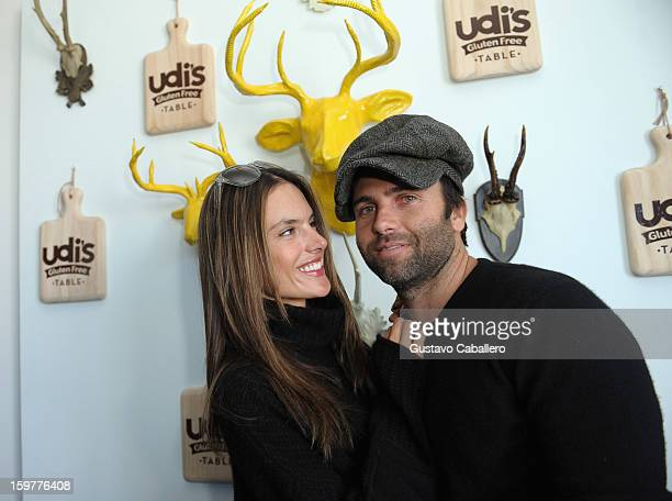 Alessandra Ambrosio and Jamie Mazur attends the Udi's Gluten Free Table on January 20 2013 in Park City Utah