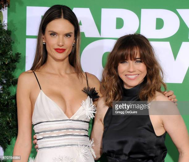 Alessandra Ambrosio and Linda Cardellini arrive at the premiere of Paramount Pictures' 'Daddy's Home 2' at Regency Village Theatre on November 5 2017...