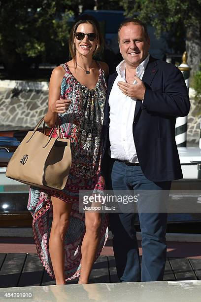 Alessandra Ambrosio and Pascal Vicedomini are seen during The 71st Venice International Film Festival on August 28, 2014 in Venice, Italy.