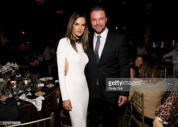 Alessandra Ambrosio and Tony Schiena attends the Mosaic Federation Gala Against Human Slavery on September 10 2019 at Cipriani 42nd Street in New...