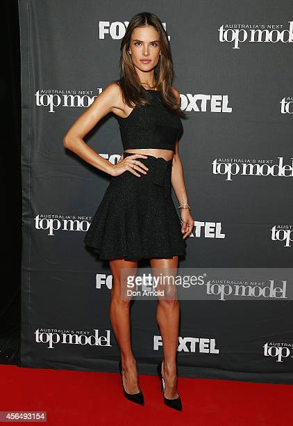Alessandra Ambrosio arrives at Australia's Next Top Model Elimination Set in Surry Hills on October 2 2014 in Sydney Australia