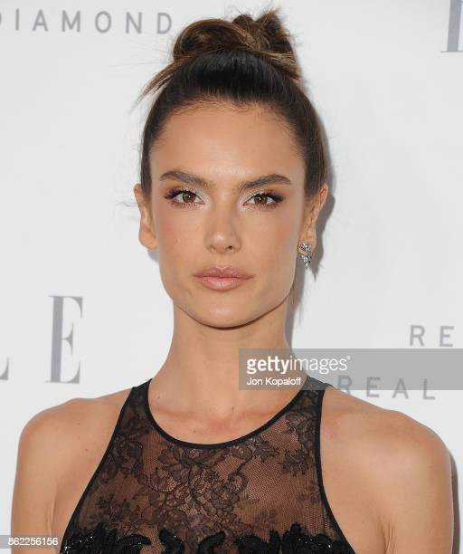 Alessandra Ambrosio arrives at ELLE's 24th Annual Women in Hollywood Celebration at Four Seasons Hotel Los Angeles at Beverly Hills on October 16...