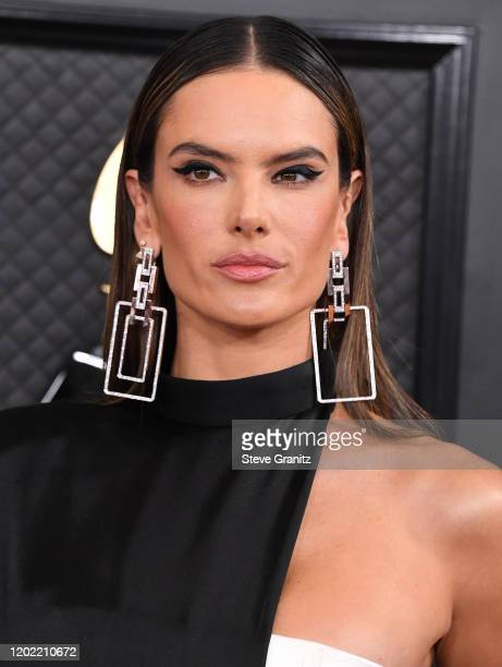 Alessandra Ambrosio arrives at the 62nd Annual GRAMMY Awards at Staples Center on January 26 2020 in Los Angeles California