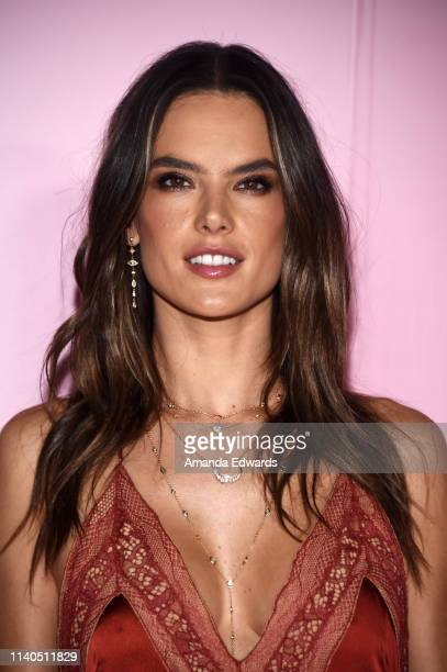 Alessandra Ambrosio arrives at the launch of Patrick Ta's Beauty Collection at Goya Studios on April 04, 2019 in Los Angeles, California.