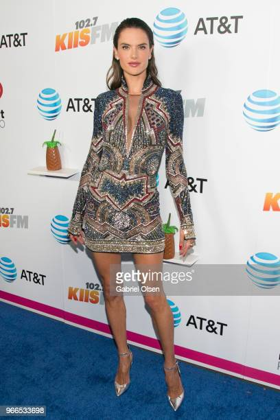 Alessandra Ambrosio arrives for iHeartRadio's KIIS FM Wango Tango By AT&T at Banc of California Stadium on June 2, 2018 in Los Angeles, California.
