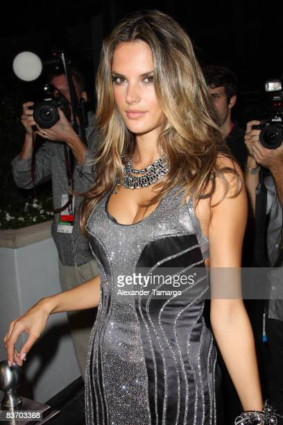 Alessandra Ambrosio arrives for the grand opening of Fontainebleau Miami Beach on November 14 2008 in Miami Beach Florida
