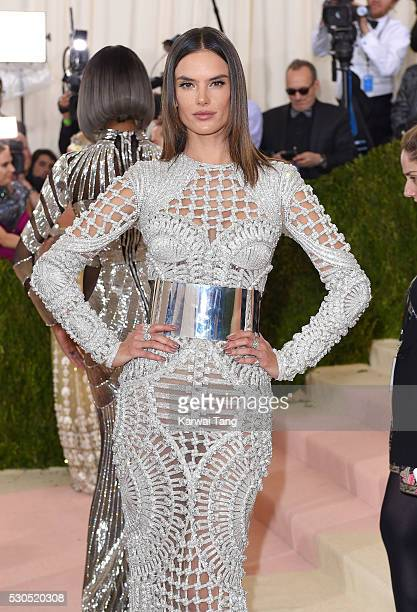 Alessandra Ambrosio arrives for the 'Manus x Machina Fashion In An Age Of Technology' Costume Institute Gala at Metropolitan Museum of Art on May 2...