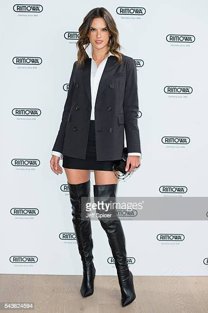 Alessandra Ambrosio arrives for the RIMOWA store opening on June 29 2016 in London England