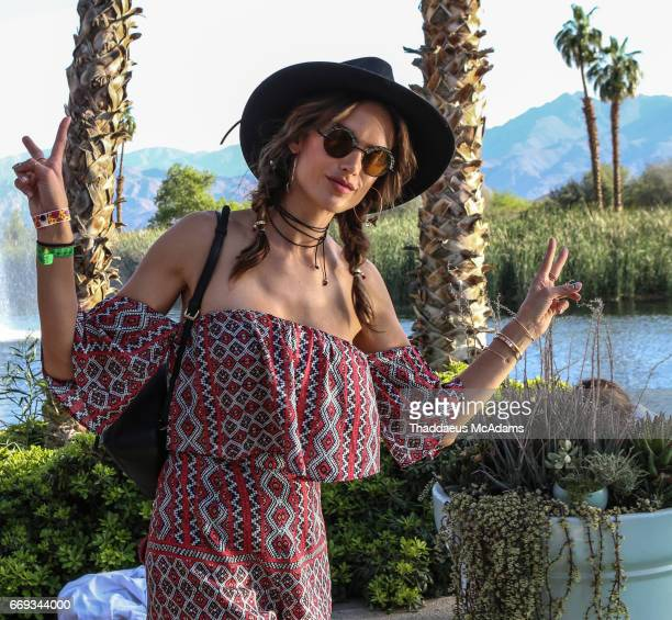Alessandra Ambrosio at the REVOLVE Desert House during Coachella on April 15 2017 in Palm Springs California on April 15 2017 in Palm Springs...