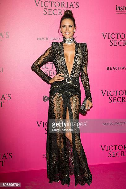 Alessandra Ambrosio attends '2016 Victoria's Secret Fashion Show' after show photocall at Le Grand Palais on November 30 2016 in Paris France