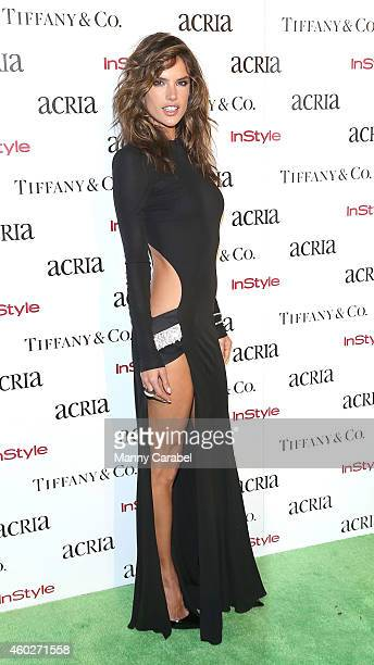 Alessandra Ambrosio attends ACRIA's 19th Annual Holiday Dinner Benefit at Skylight Modern on December 10 2014 in New York City
