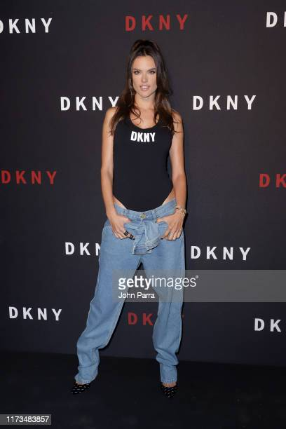 Alessandra Ambrosio attends as DKNY turns 30 with special live performances by Halsey and The Martinez Brothers at St. Ann's Warehouse on September...