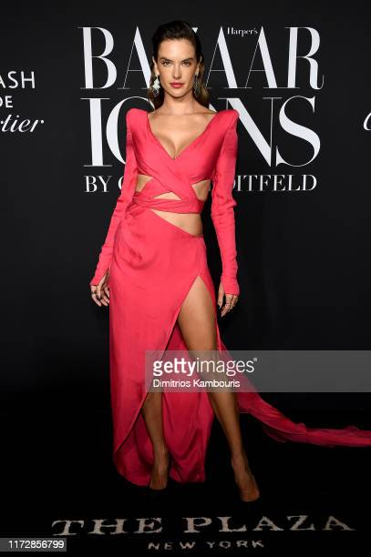 "Alessandra Ambrosio attends as Harper's BAZAAR celebrates ""ICONS By Carine Roitfeld"" at The Plaza Hotel presented by Cartier - Arrivals on September..."