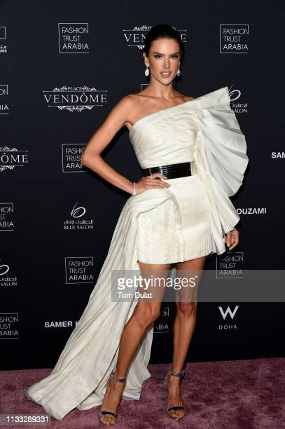 Alessandra Ambrosio attends Fashion Trust Arabia Gala at the Fire Station on March 28 2019 in Doha Qatar